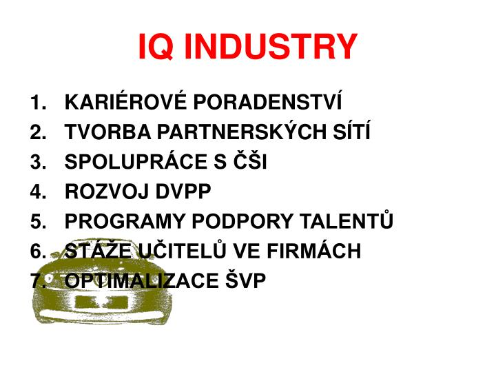 IQ INDUSTRY