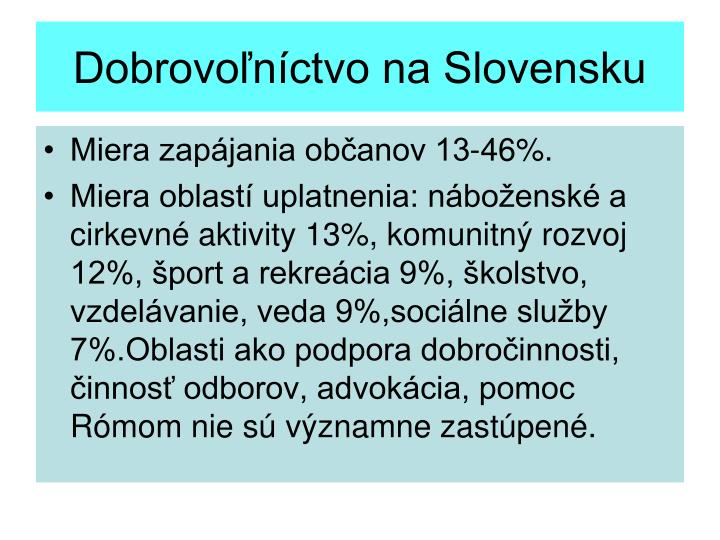 Dobrovoľníctvo na Slovensku