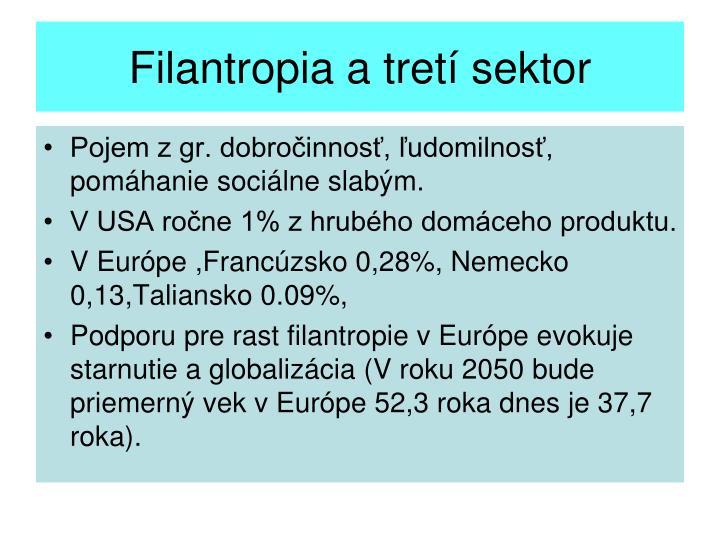 Filantropia a tretí sektor