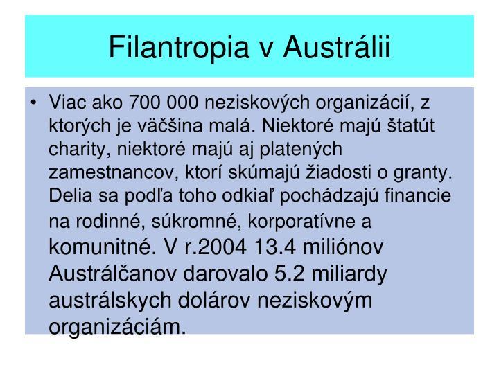 Filantropia v Austrálii