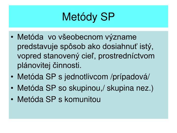 Metódy SP