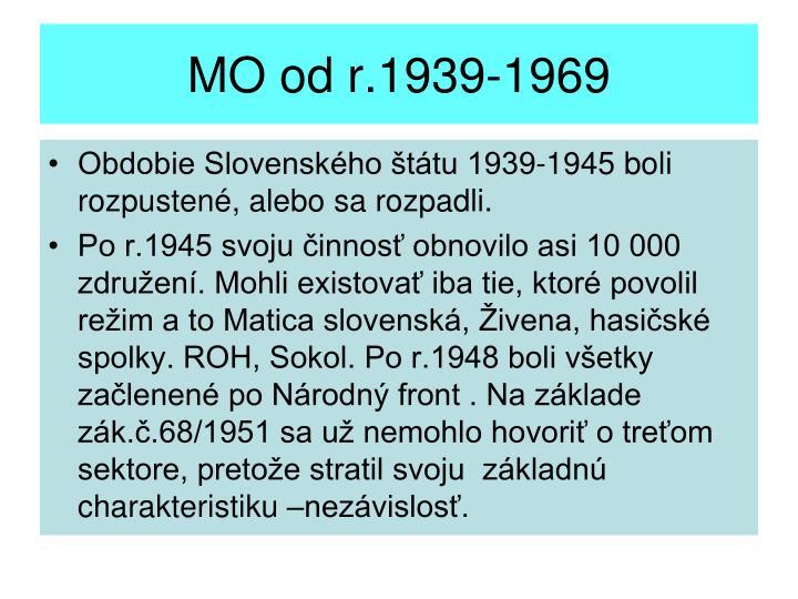 MO od r.1939-1969