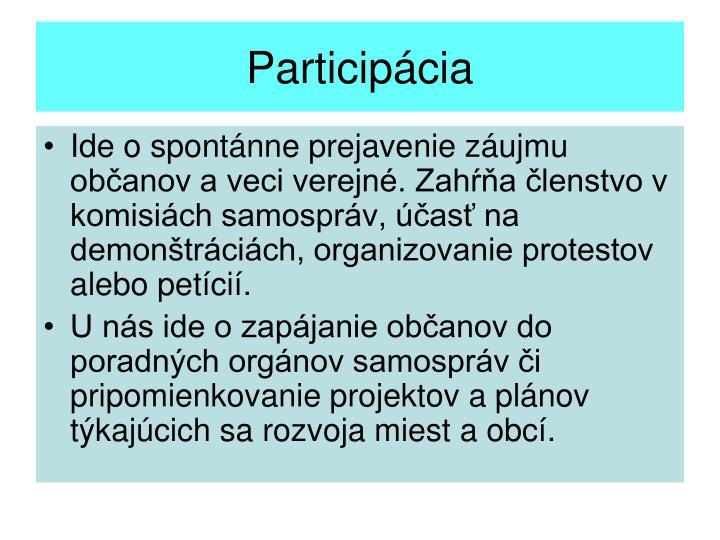 Participácia
