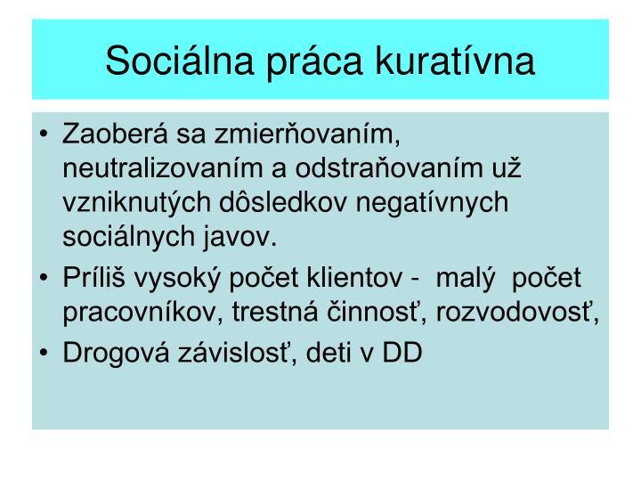 Sociálna práca kuratívna