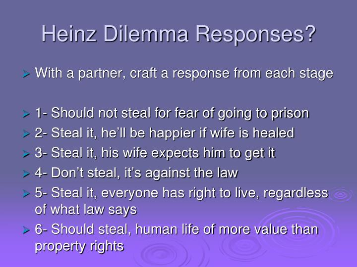 Heinz Dilemma Responses?