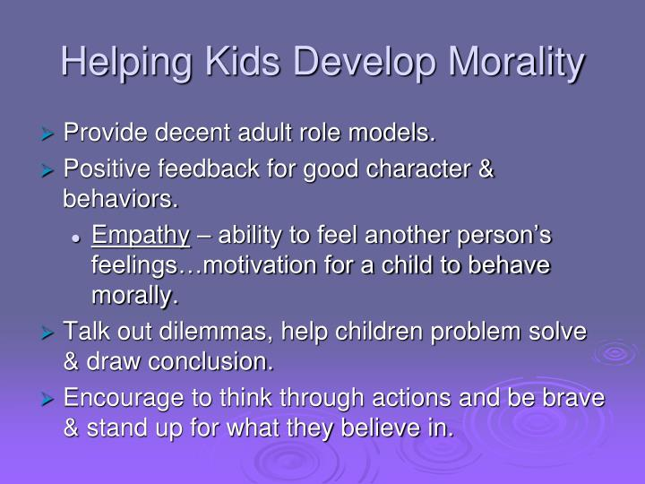 Helping Kids Develop Morality