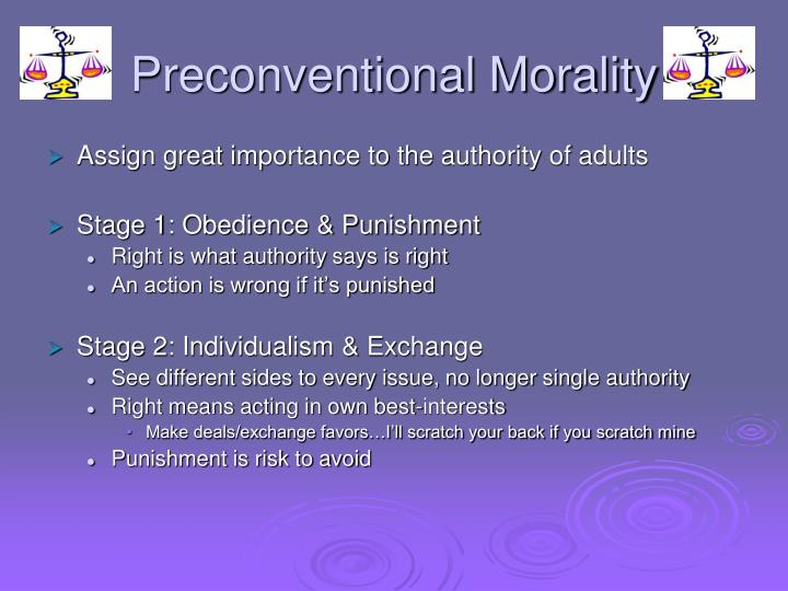 Preconventional Morality