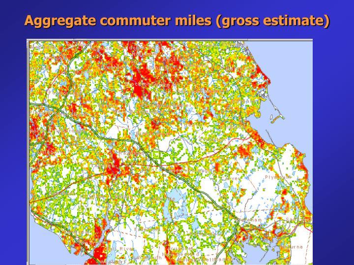 Aggregate commuter miles (gross estimate)
