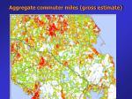 aggregate commuter miles gross estimate