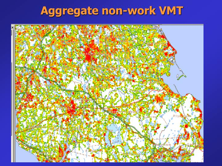 Aggregate non-work VMT