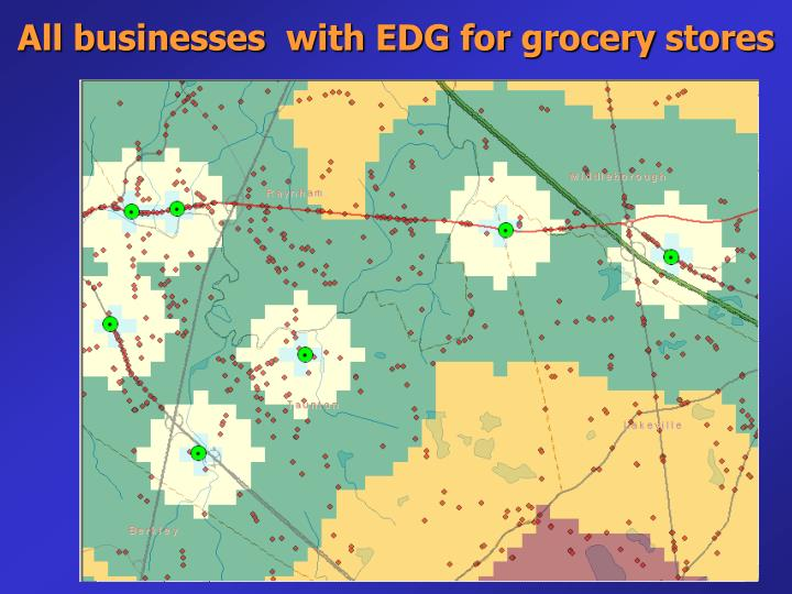All businesses  with EDG for grocery stores
