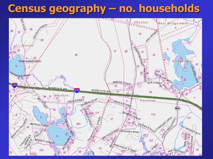Census geography – no. households