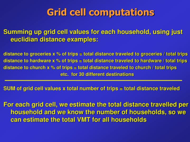 Grid cell computations