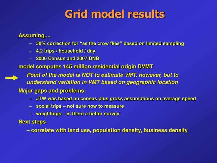 Grid model results
