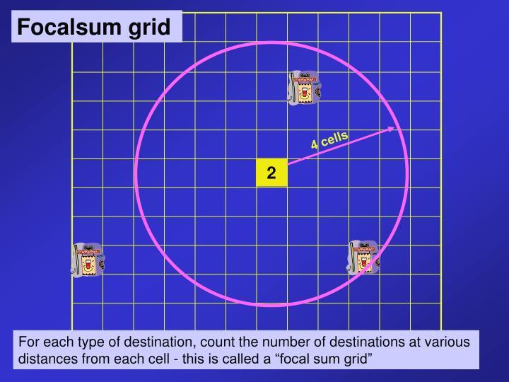 Focalsum grid