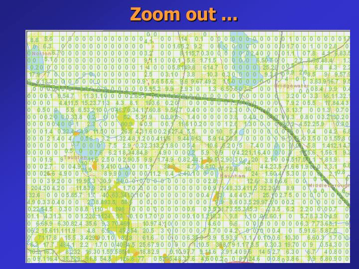Zoom out ...