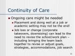 continuity of care7