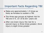 important facts regarding tbi2