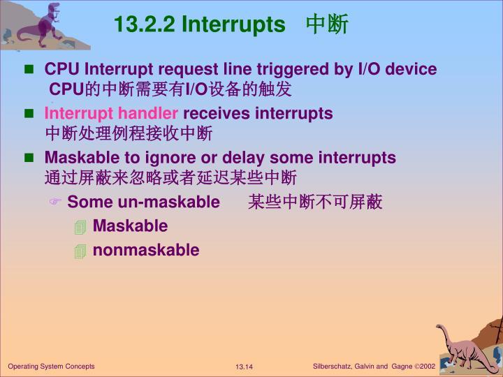 13.2.2 Interrupts