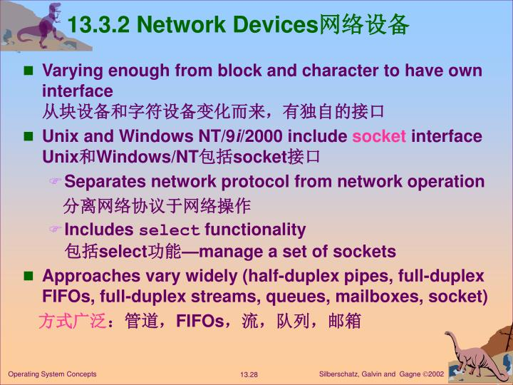 13.3.2 Network Devices