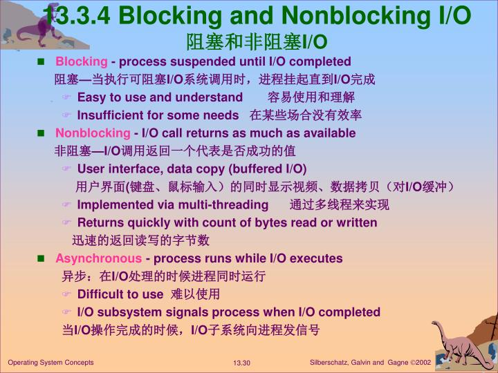 13.3.4 Blocking and Nonblocking I/O