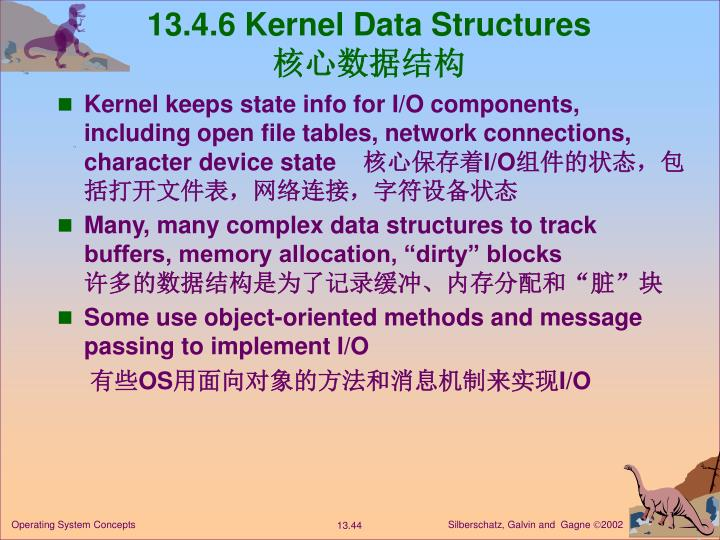 13.4.6 Kernel Data Structures