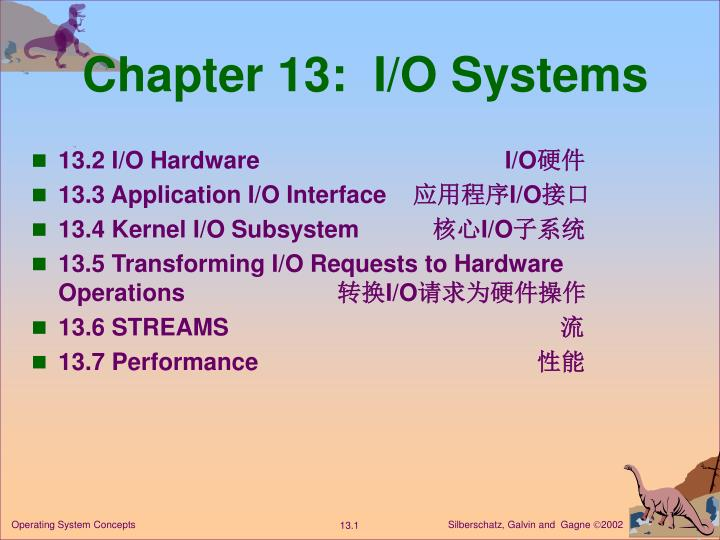 chapter 13 i o systems