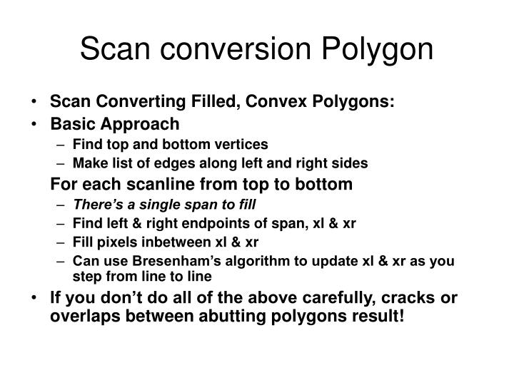 Scan conversion Polygon