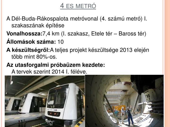 4 es metró