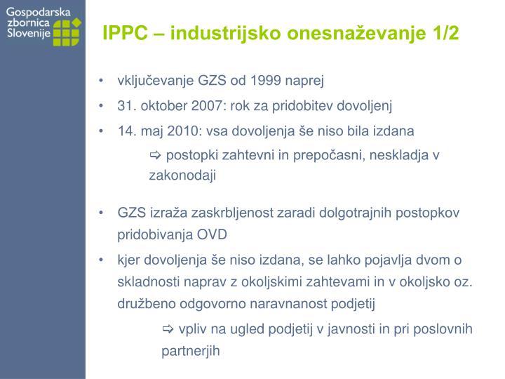 IPPC – industrijsko onesnaževanje 1/2