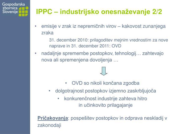 IPPC – industrijsko onesnaževanje 2/2