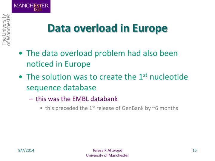 Data overload in Europe