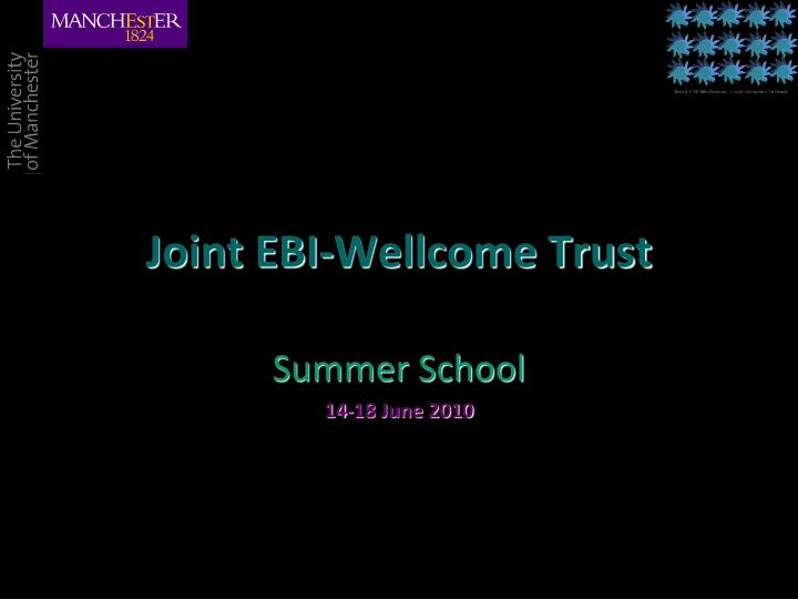 Joint ebi wellcome trust