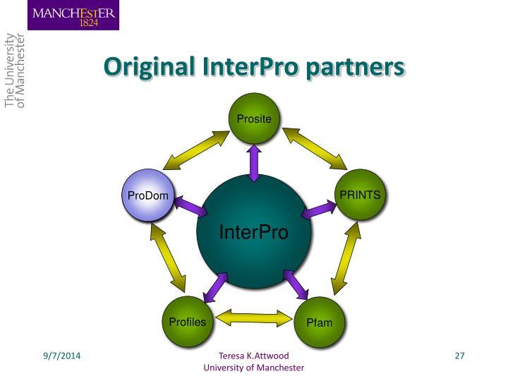 Original InterPro partners