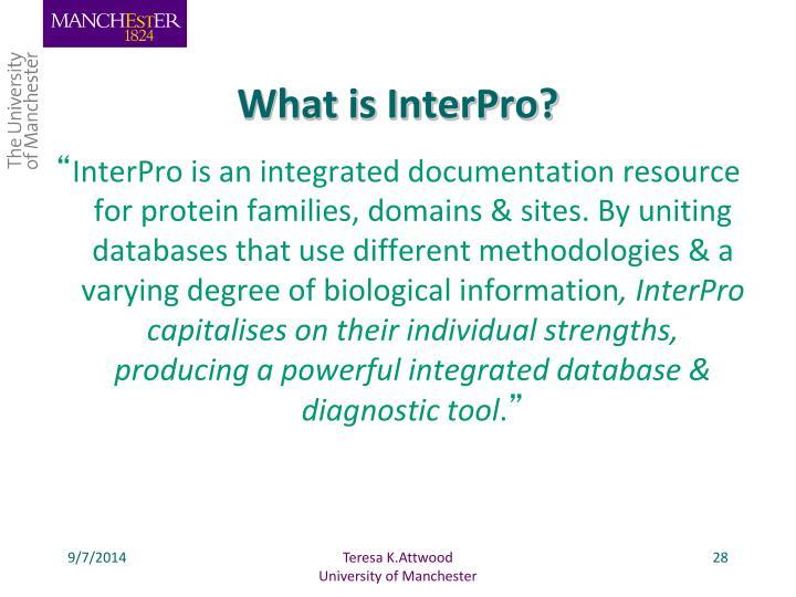 What is InterPro?