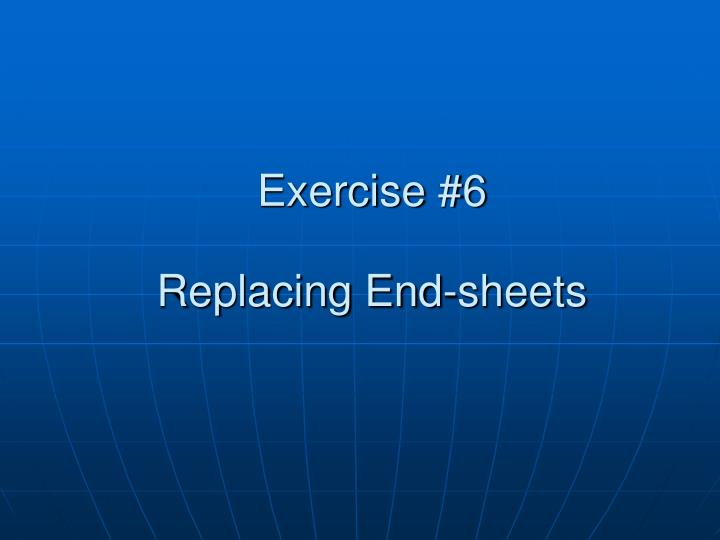 Exercise #6