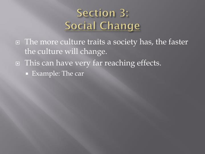 Section 3 social change