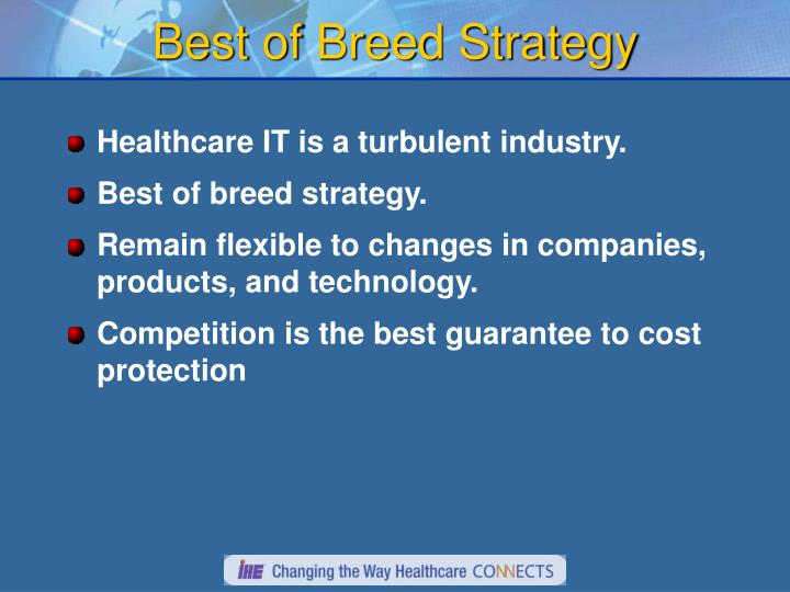 Best of Breed Strategy