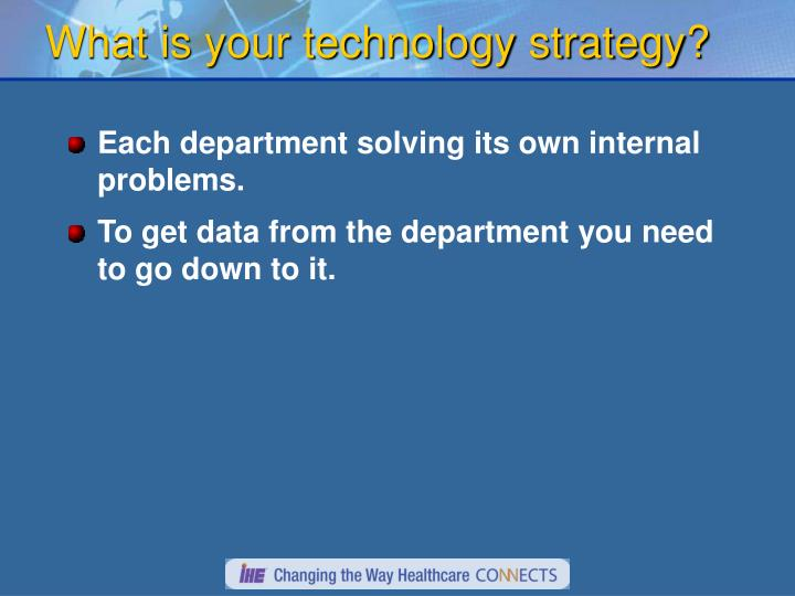 What is your technology strategy