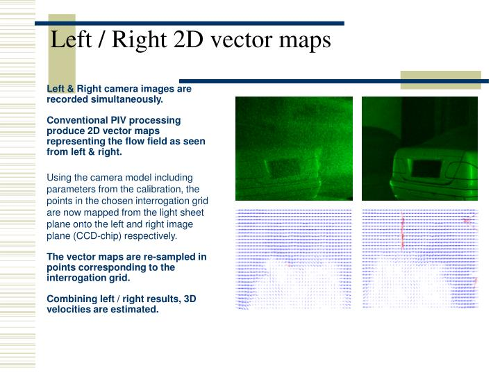 Left / Right 2D vector maps