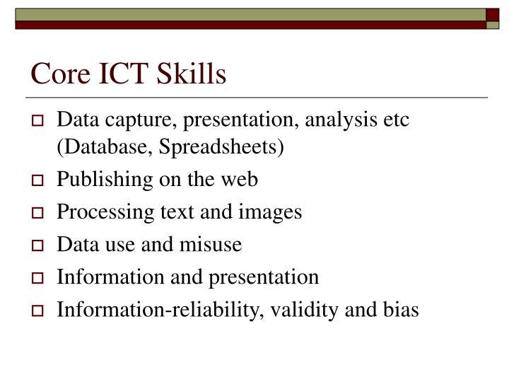 Core ICT Skills