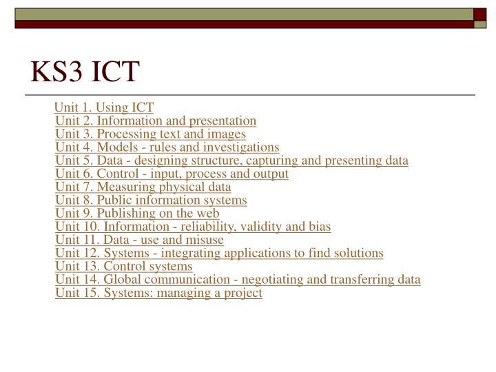 KS3 ICT