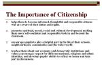 the importance of citizenship
