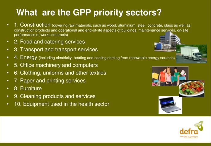 What  are the GPP priority sectors?