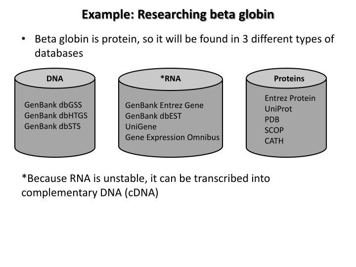 Example: Researching beta globin