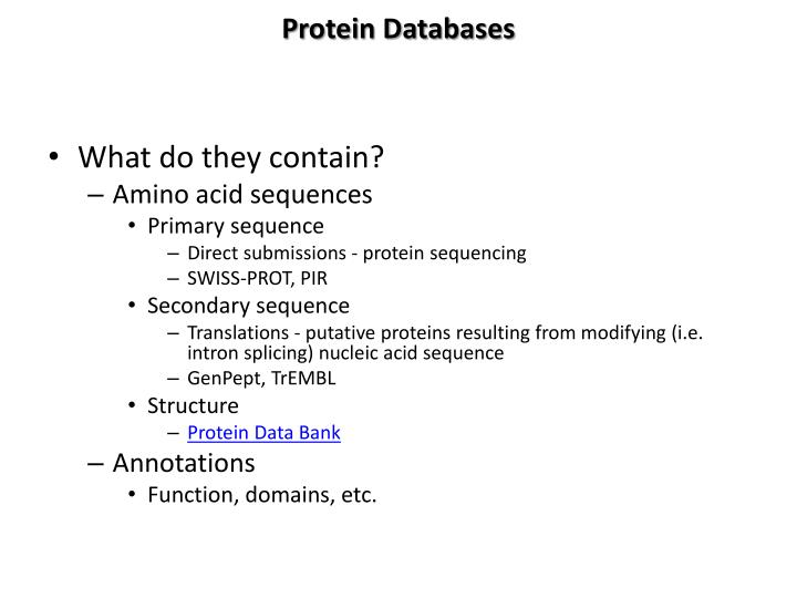 Protein Databases