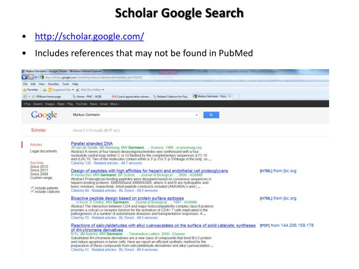 Scholar Google Search