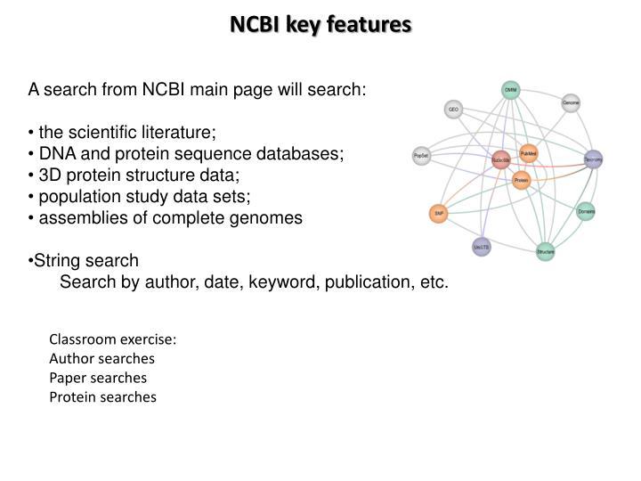 NCBI key features