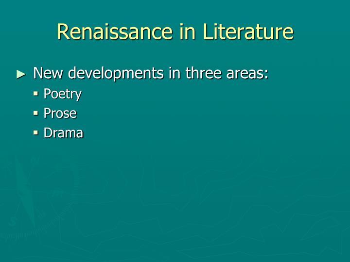 Renaissance in Literature