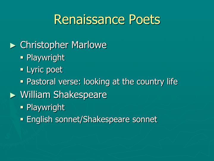 Renaissance Poets